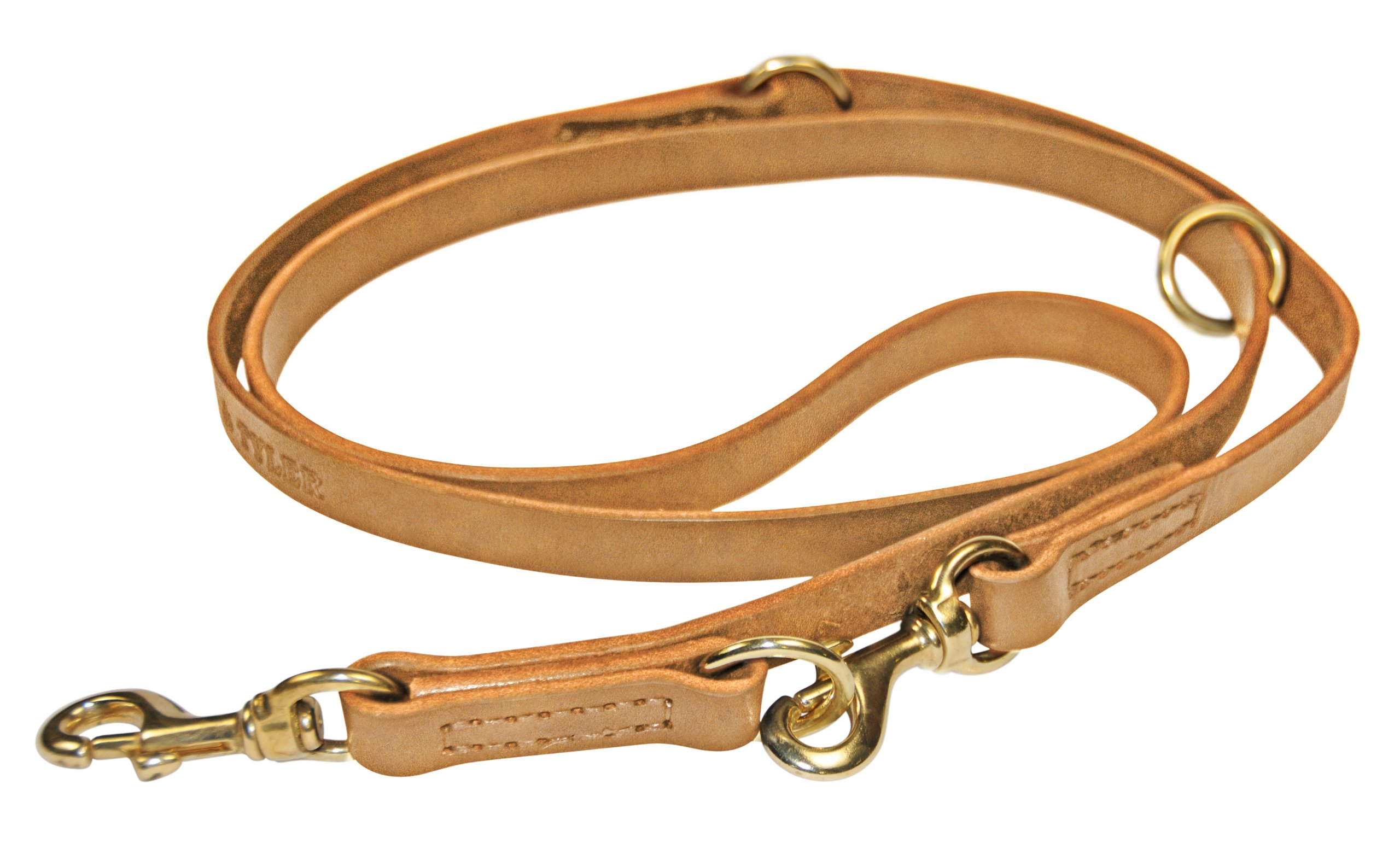 Dean & Tyler Simple Pleasure Multifunctional Dog Leash with Solid Brass Hardware, 5-Feet by 3/4-Inch, Tan