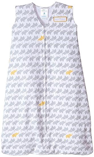 86ac3be8a Amazon.com: HALO Sleepsack 100% Cotton Wearable Blanket, Gray Elephant  Graphics, Medium: Baby