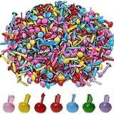 500pièces Mini Attaches parisiennes, Wowot 5mm Multicolore ronde BRAD, papier craft stamping Scrapbooking DIY Outil