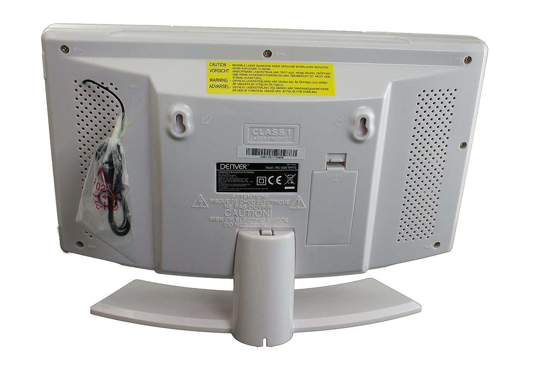 Denver MC 5220 Equipo Estéreo Compacto Reproductor de CD AUX FM/MW Radio Sintonizador de radio o CD Despertador temporizador: Amazon.es: Electrónica