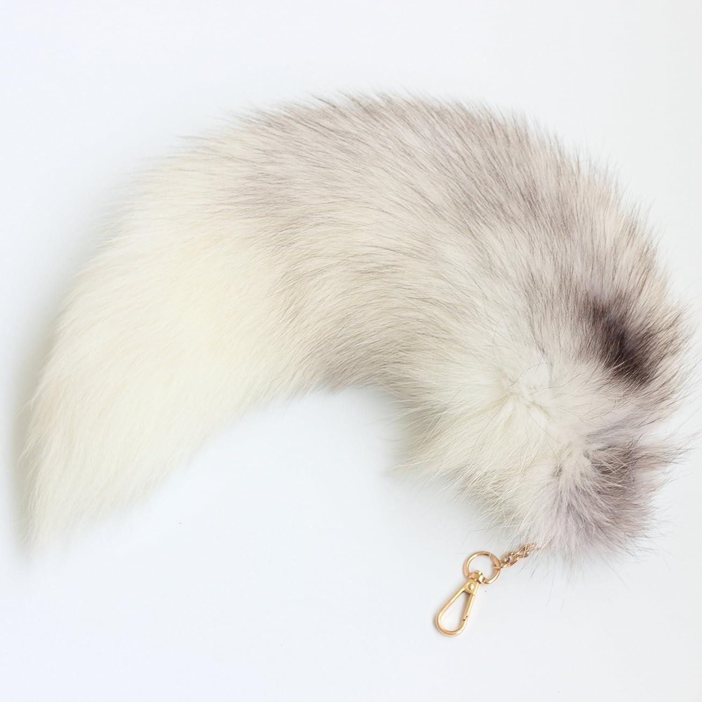 Handmade Gray Fox Tail