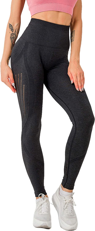 Respctful Fashion Honeycomb Silver Workout Gym Leggings High Waist Yoga Pants for Women