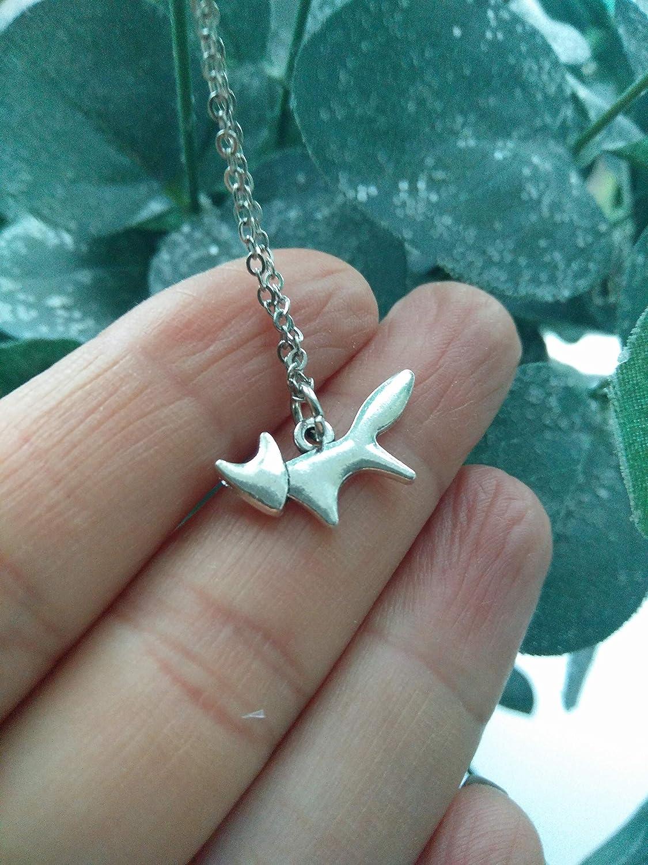 Fox necklace pendant charm animal lover present teacher sister jewellery gift for friend