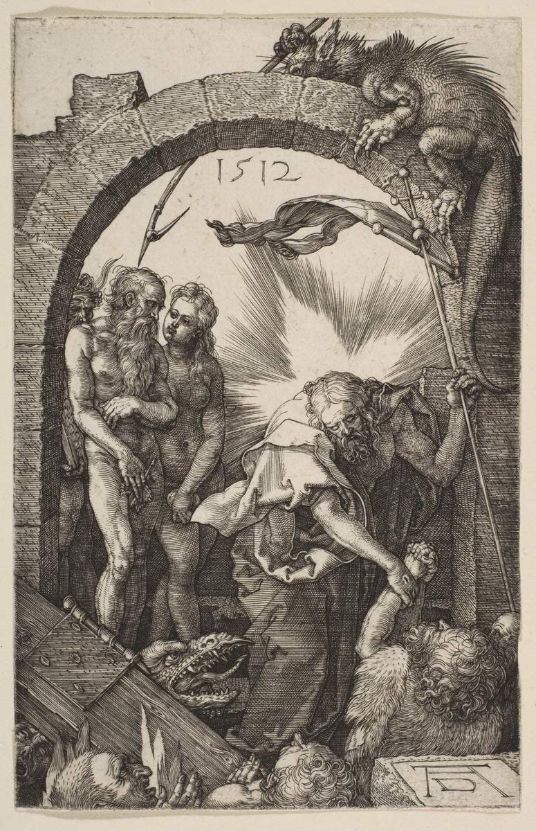 Berkin Arts Albrecht Durer Giclee Print On Canvas-Famous Paintings Fine Art Poster-Reproduction Wall Decor(Christ in Limbo from The Passion 1) Large Size 20.4 x 31.5inches