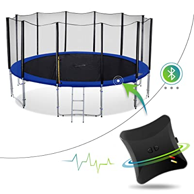 Welovejump Smart Heavy Duty Trampoline with Safety Enclousre Net, Ladder and Energy Jumping Detector, Bluetooth Wireless App : Sports & Outdoors