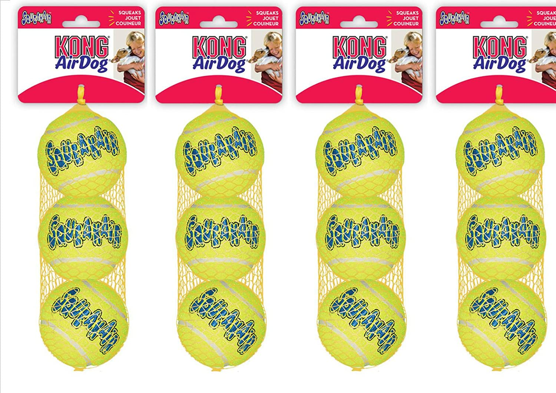 Aire Kong Squeakers Pelotas de tenis pelota para perros 12 tamaño ...