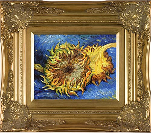 overstockArt VG880-FR-6996G8X10 Van Gogh Two Cut Sunflowers with Victorian Gold Frame, Gold Finish