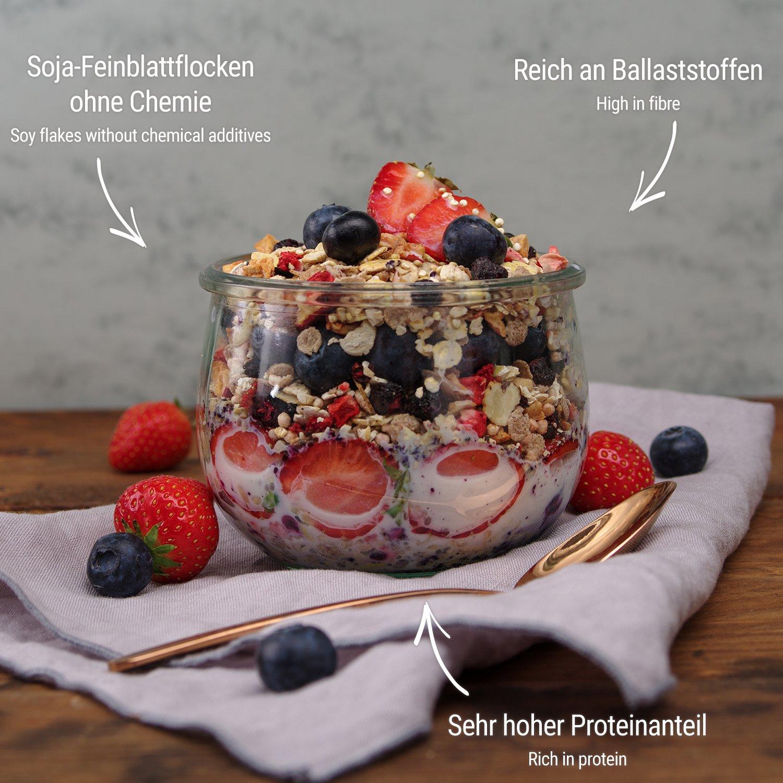 foodspring Muesli Proteico, 420g, Arándanos-Chufas, Muesli proteico con finos copos de soja, 100% calidad orgánica: Amazon.es: Alimentación y bebidas
