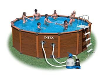 Intex Fr Piscine Kit Piscine Sequoia Spirit X M - Piscine intex aspect bois