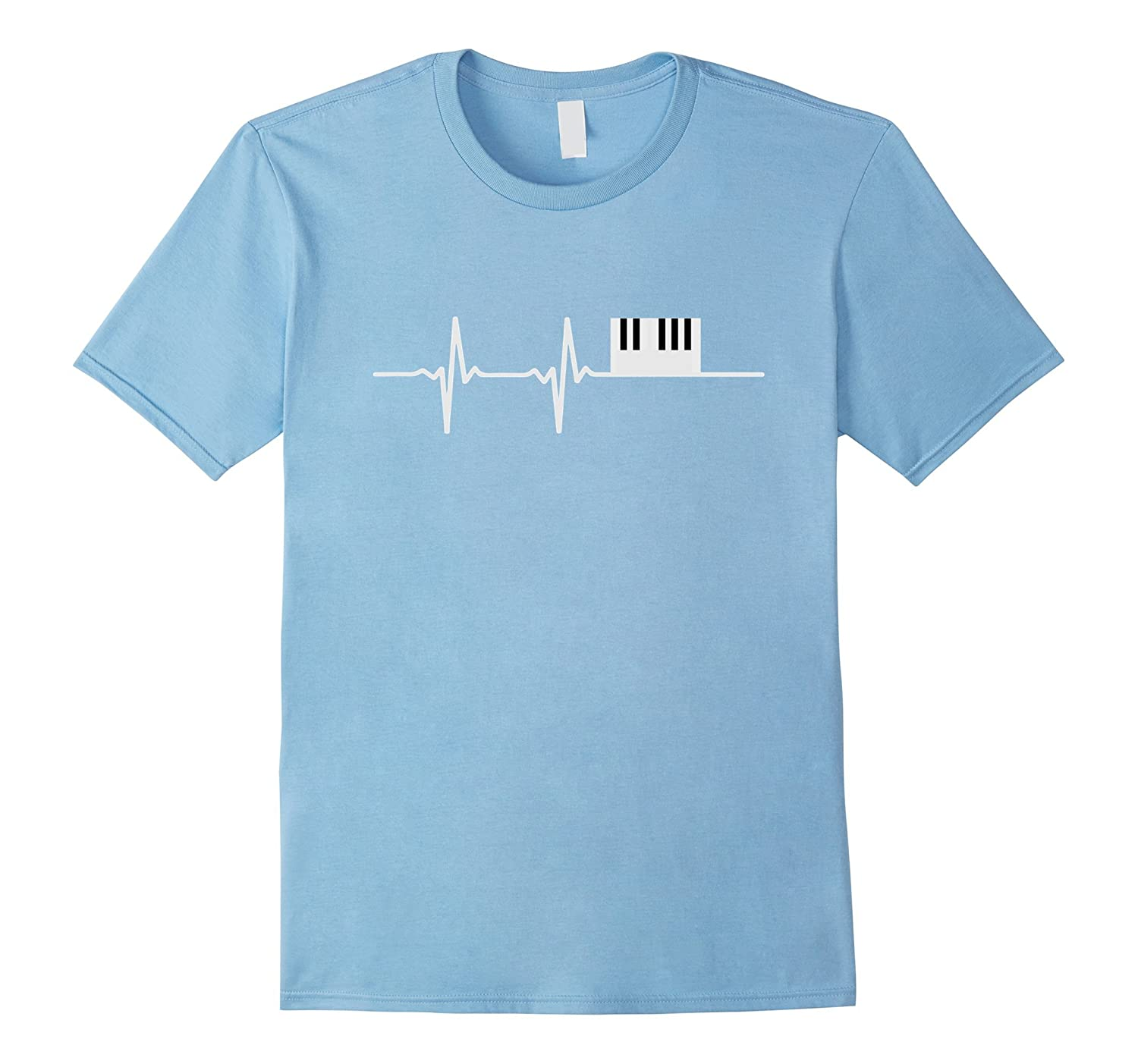 3b89329a Piano Heartbeat T-Shirt Keyboard Shirt-CL – Colamaga