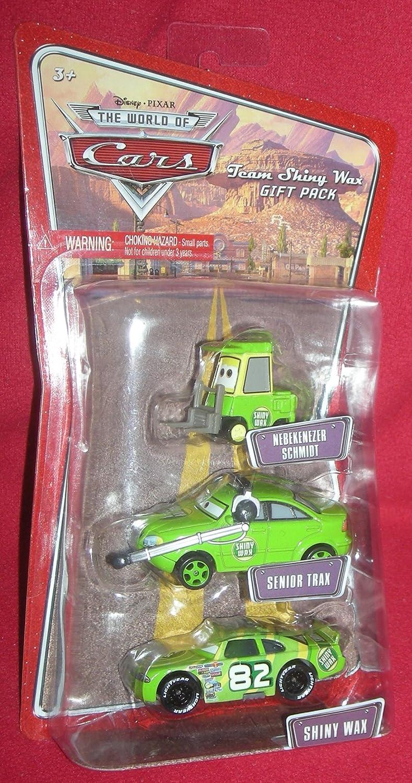 Disney Pixar Cars - 3-pack - Shiny Wax   Senior Trax   Nebekenezer Schmidt