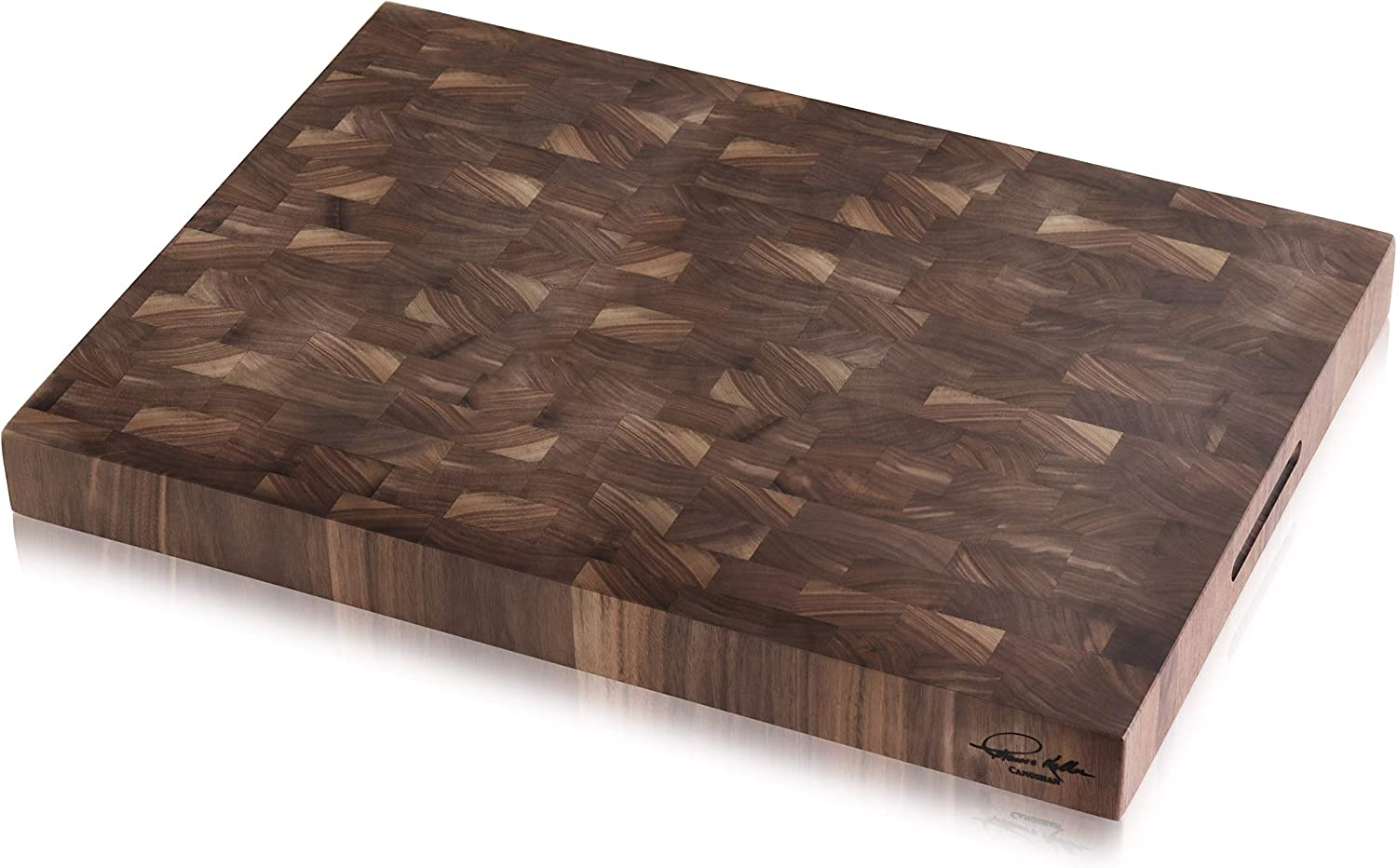 """Cangshan   Thomas Keller Signature Collection Walnut End-Grain Cutting Board,16 x 22 x 2.0"""", Crafted in USA"""