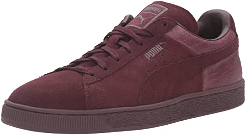 69ed7c471ff9 PUMA Men's Suede Classic Casual Emboss Fashion Sneaker Winetasting 5 ...