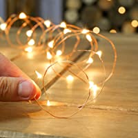 Quace Copper String Led Light 3M 30 LED USB Operated Wire Decorative Fairy Lights Diwali Christmas Festival - Warm White