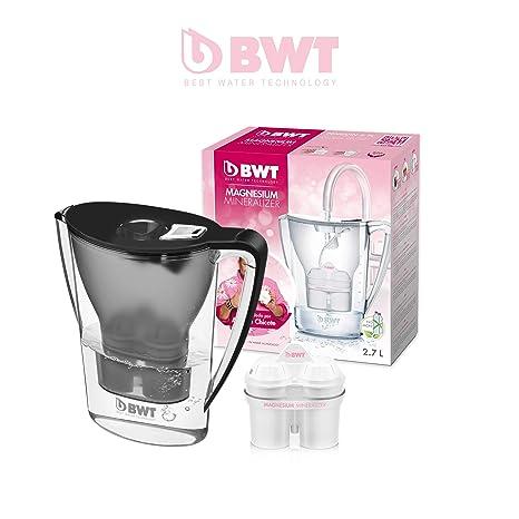 BWT Penguin Electrónica – Jarra filtradora de agua con magnesio 2,7 L Negro