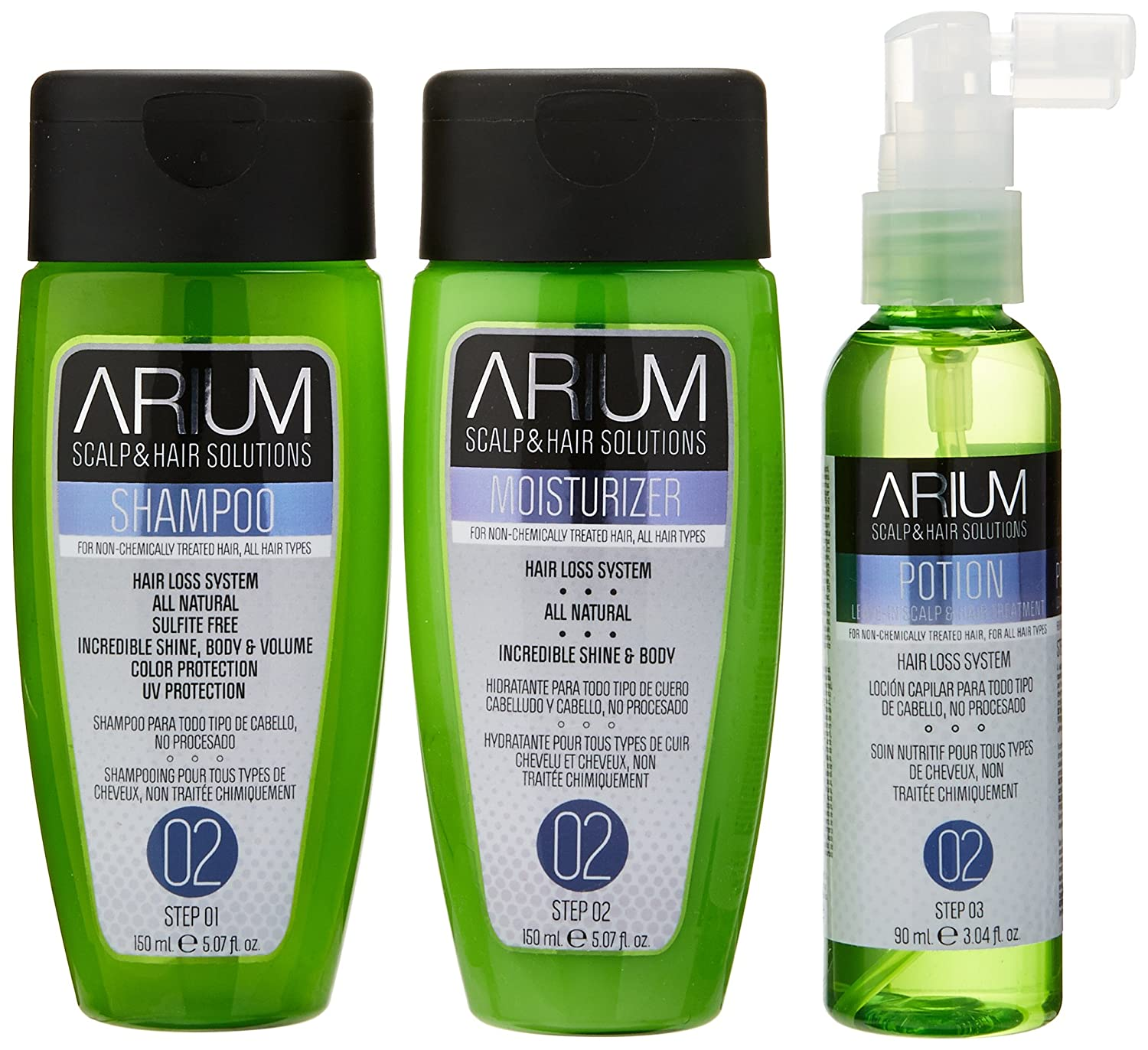 Amazon.com: ARIUM SCALP & HAIR SOLUTIONS Scalp & Hair Growth Trio O2: Health & Personal Care