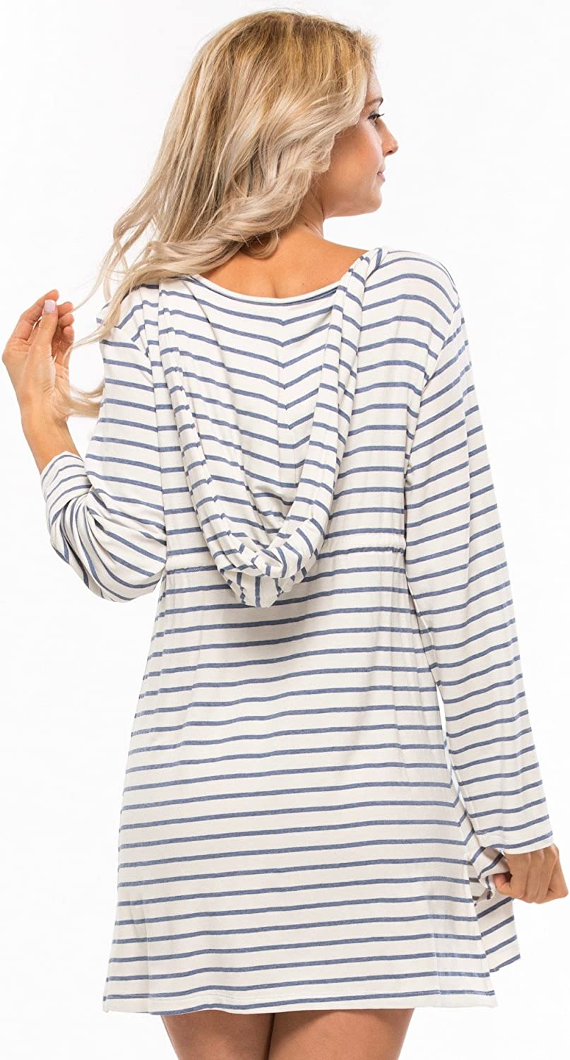 Blue Life Hooded Terry Tunic Dress
