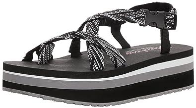 ea932226205ba Skechers Women s WHIPPIT-Glastonbury-Toe-Thong Slingback Platform Sandal