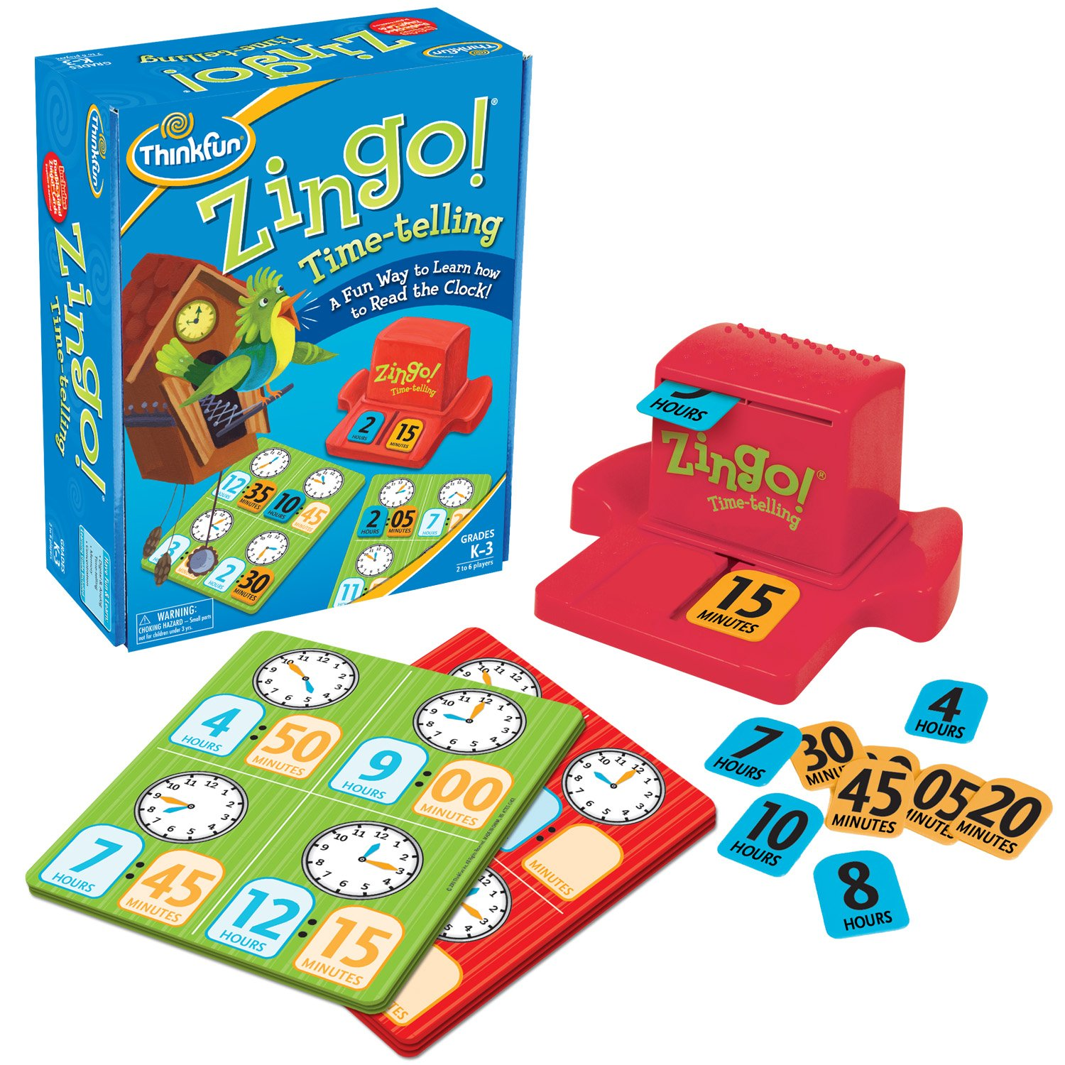 ZINGO BINGO Telling Time Board Game
