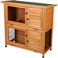 CO-Z Stilt House Rabbit Hutch, Pet Cage, Bunny Cages, Outdoor Cat Shelter with Outdoor Run