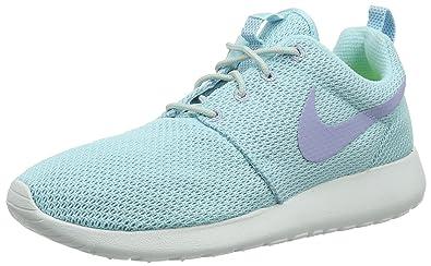 best sneakers 9e9ad 0df9b NIKE Roshe run Womens Trainers GLACIER ICEPURPLEWHITEGREY (UK4.