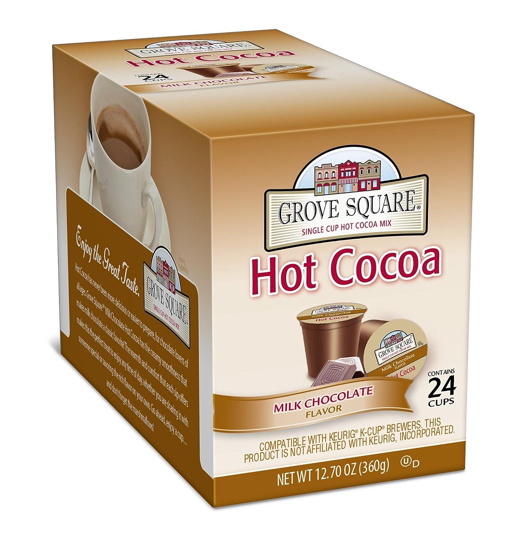 Amazon.com : Grove Square Hot Cocoa, Milk Chocolate, 24 Single ...