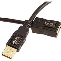 Amazon Basics Cable de extensión USB 2.0, Tipo Macho A a Hembra A, 1 m