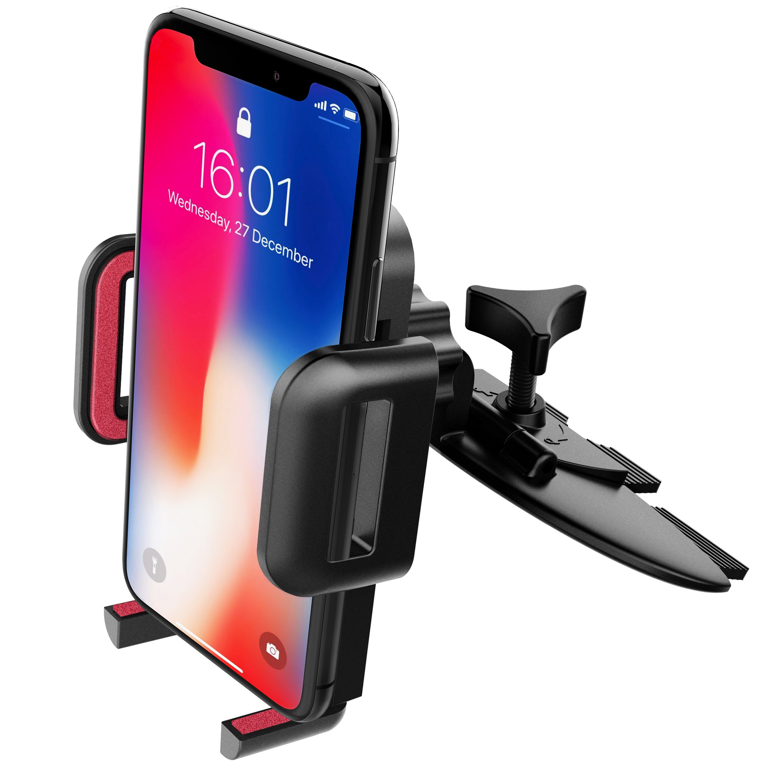 CD Slot Phone Holder, Mpow Universal Car Phone Mount 360° Rotating Car Holder with One-Click Release Button Cradle for iPhone X/10 8 7plus 6s 5 HUAWEI Nexus 5X 6 6P Samsung S9 LG Sony and Other product image