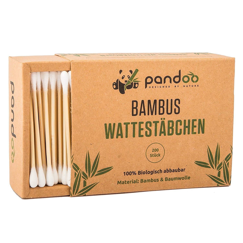 /Écologique et Polyvalent Bonne R/ésistance /à l/'Eau pandoo Cotons-tiges Biod/égradables en Bambou de Culture Biologique 800 4 Bo/îtes de 200 - 7.5 cm B/âtonnets en Coton Durables et Compostables