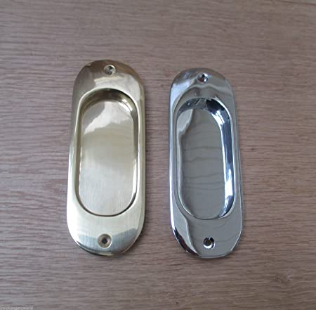 IRONMONGERY WORLD® SOLID BRASS RECESSED PULL DOOR HANDLE FLUSH INSET ...