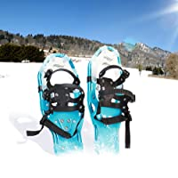 Physionics Snowshoes (Different Sizes and Colours) Non-slip Aluminium Crampons Snow Shoes incl. Carrying Bag