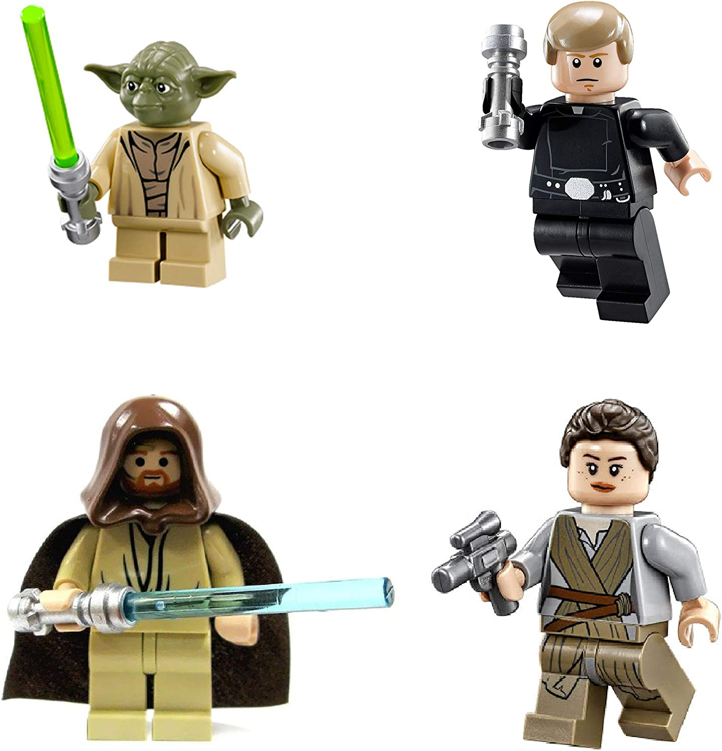 LEGO Star Wars: Jedi Lot #2 - Luke Skywalker, Rey, OBI Wan & Yoda