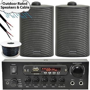 Fiesta en el jardín/barbacoa al aire libre kit de amplificador y altavoz – Bluetooth/inalámbrico Mini