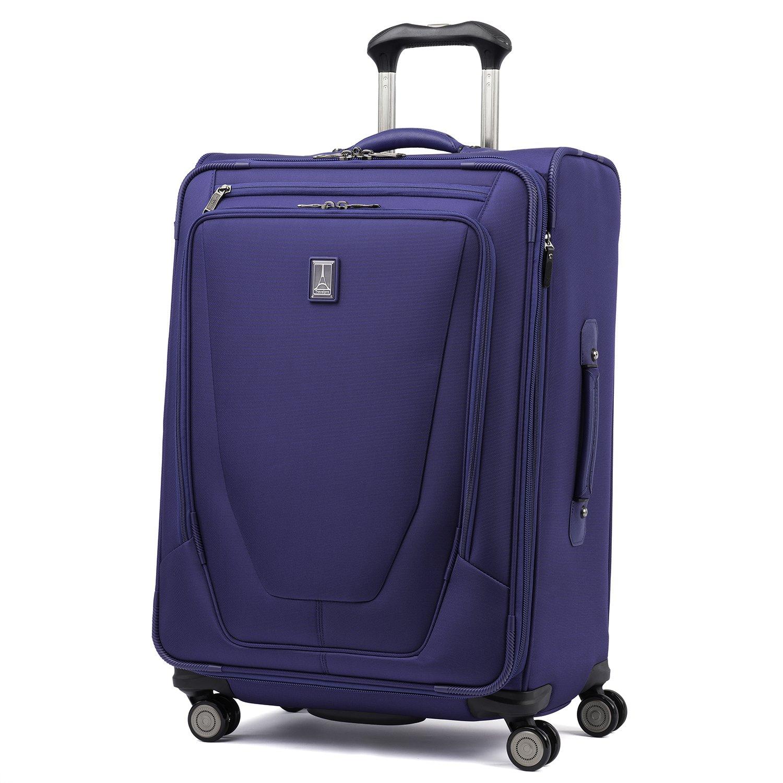 Travelpro Luggage Crew 11 25'' Expandable Spinner Suitcase w/Suiter, Indigo