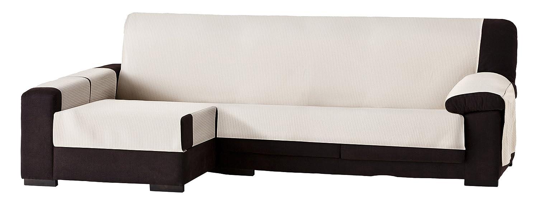 Eysa Bianca Nicht elastisch Sofa überwurf Chaise Longue 290 290 290 cm Links, frontalsicht, Baumwolle, 00-Ecru, 37 x 9 x 29 cm, 1 Einheiten cf532d