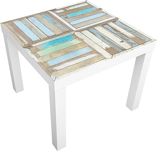Apalis Mesa de diseño Colour Rustic Timber 55x55x45cm, Tabla de ...