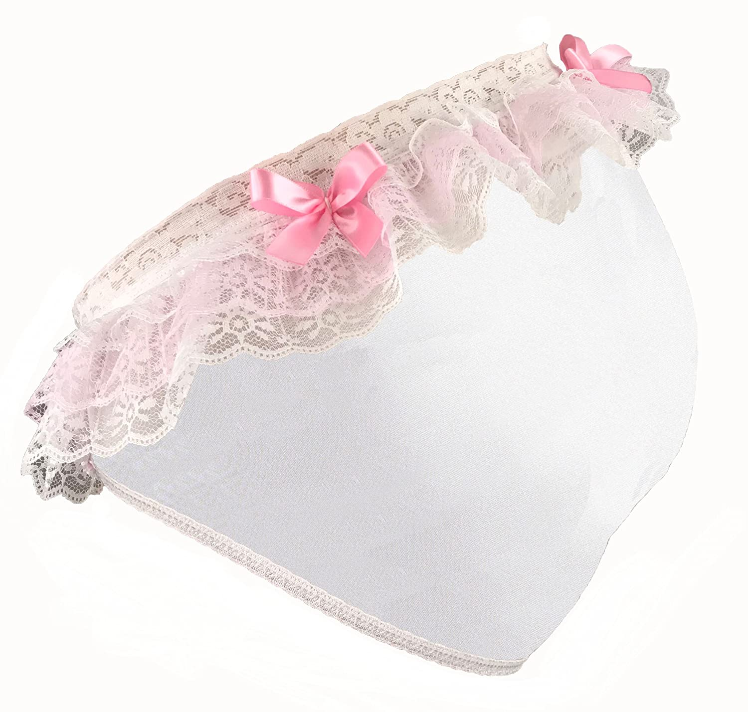 635401154386 Amazon.com: Sissy Dames Unisex Cute Lace Dress up Lingerie Panties - White  with Pink Bow: Clothing