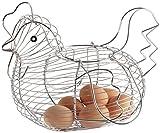 kitchen Craft Chicken Basket, Steel, Silver, 20 x 25 x 16 cm