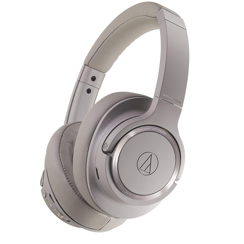 4a75f32848451d Amazon.com: Audio-Technica ATH-SR50BT Wireless Over-Ear Headphones,  Brown-gray: Electronics
