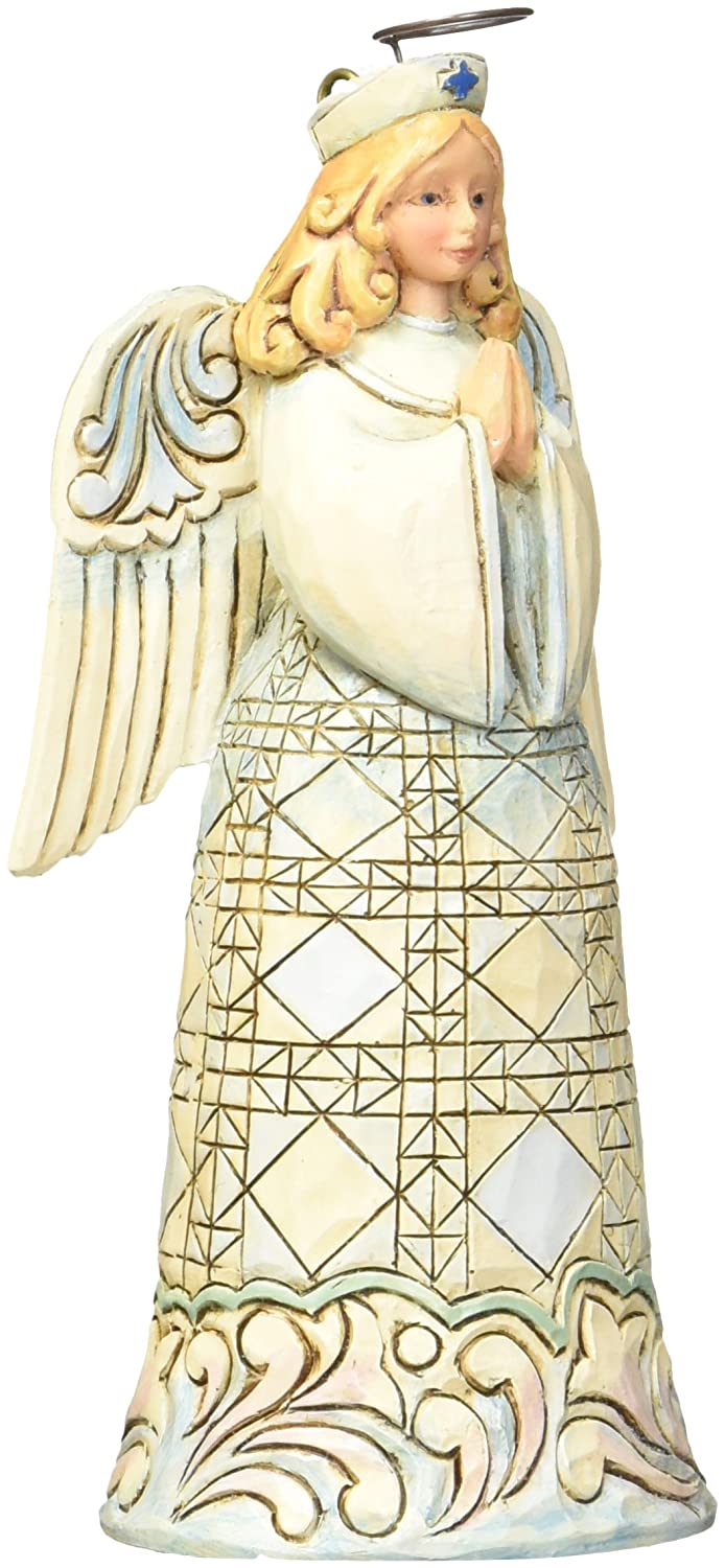 Jim Shore for Enesco Heartwood Creek Nurse Angel Ornament, 4.625