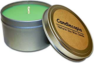 product image for Candlecopia Mistletoe Strongly Scented Sustainable Vegan Natural Soy Travel Tin Candle