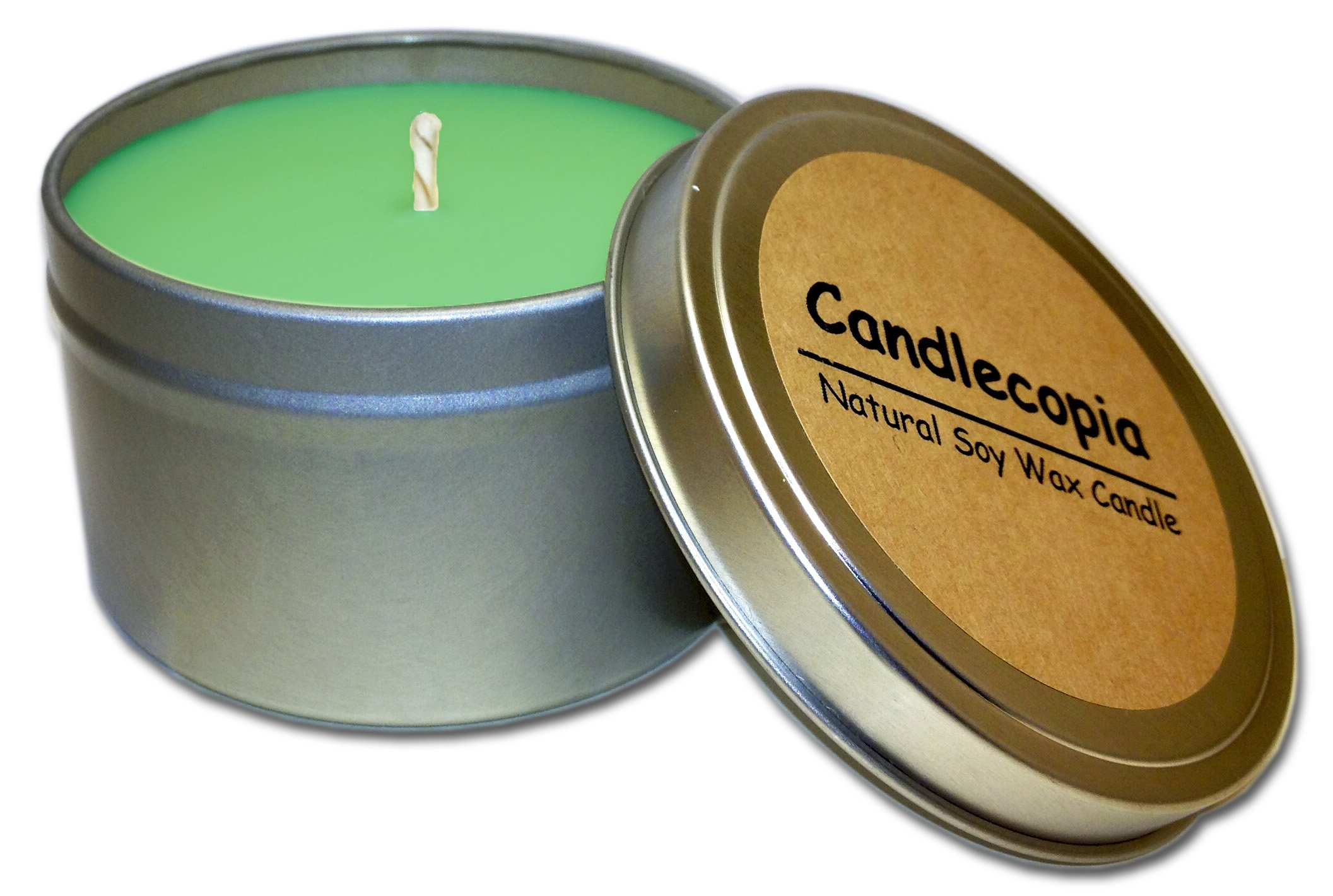 Candlecopia Balsam & Cedar Strongly Scented Sustainable Vegan Natural Soy Travel Tin Candle