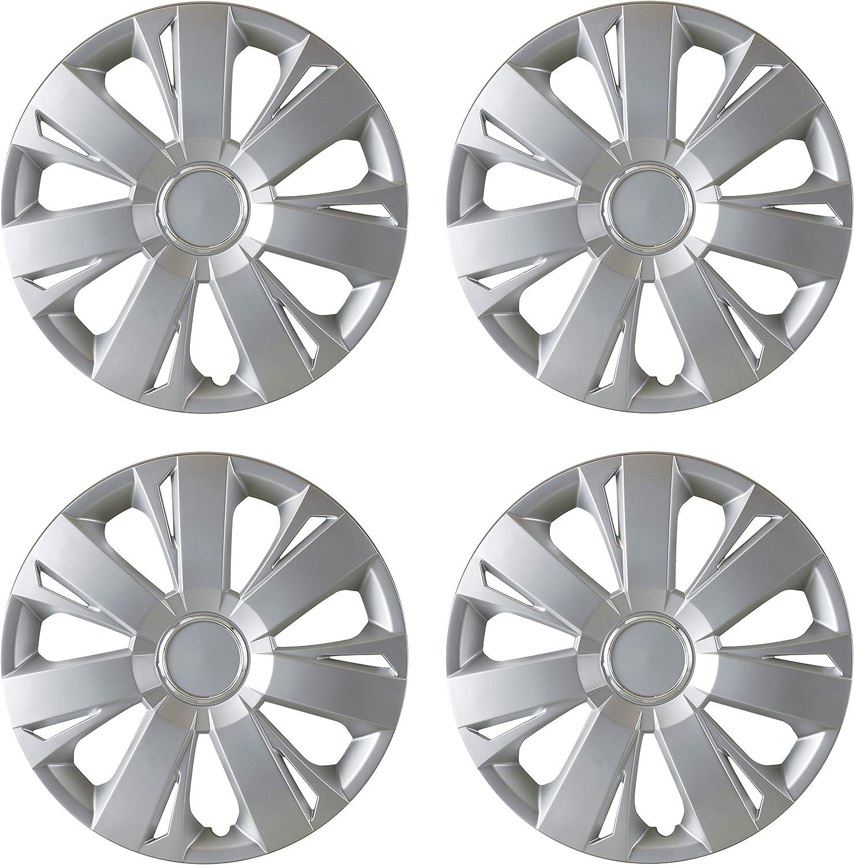 "WJ-5077-B-15 Studio 4 Piece Hubcaps Wheel Cover 15/"" Wheel Trim"
