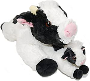 Super Soft Cows Plush Stuffed Animals Set - 18 inch Cow with Baby Calf - Kids Toys - Give Happiness