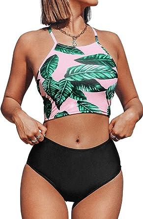 Women Bikini Cut Flower Two Piece Swimsuit Swimsuit Beachwear Ladies Beach Girls