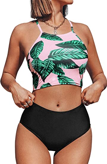 ACE Fashion 2 Piece Bathing Suit Beach Surf Swimwear Bikini Set Lavender Sz Med