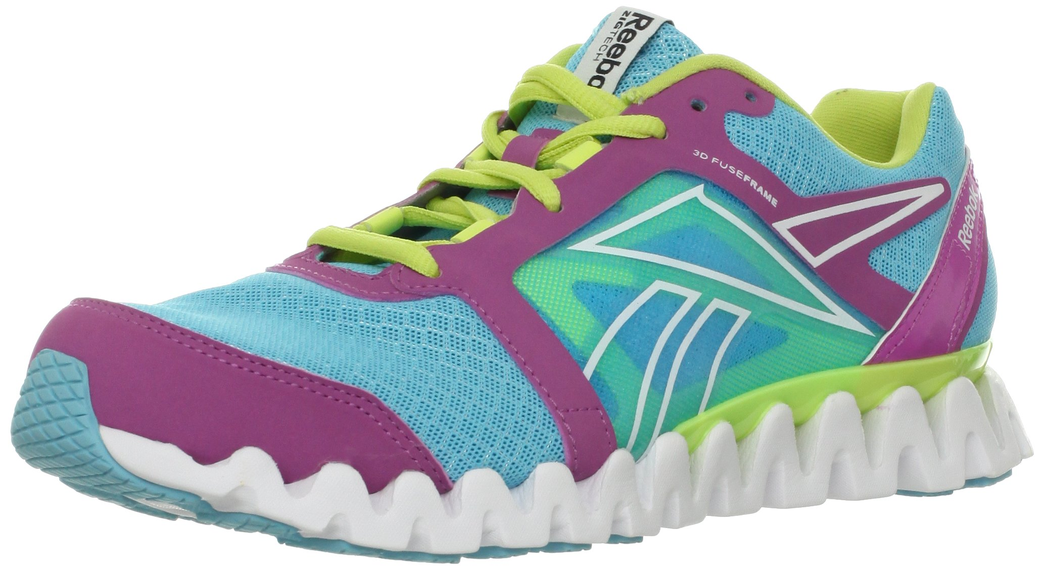 Reebok Women's Zigquick Fire Cross-Training Shoe,Watery Blue/Cool Aloe/Iced Berry/White,10 M US by Reebok (Image #1)