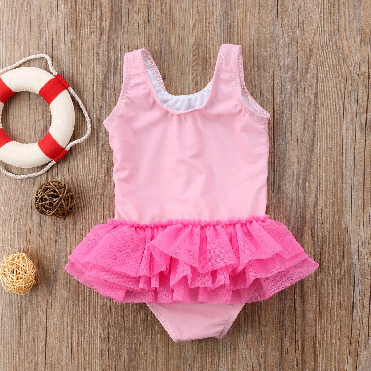Amazon.com: enhill niños bebé niña Flamingo traje de baño de ...