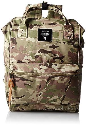 dc78d46742bf Japan Anello Backpack Unisex LARGE CAMO KHAKI Rucksack Waterproof Canvas  Campus Bag