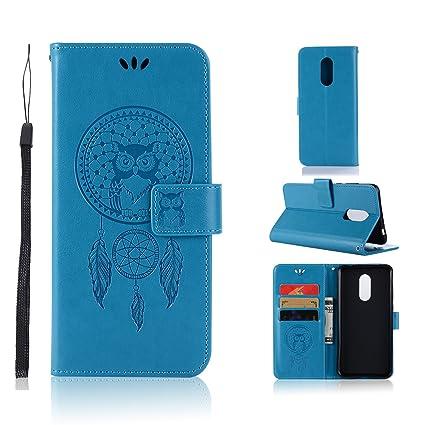 BCIT Xiaomi Redmi 5 Plus Funda - [Patrón de búho] Carcasa Libro de Cuero Con Tapa y Cartera, Carcasa PU Leather Con TPU Silicona Case Interna Suave ...